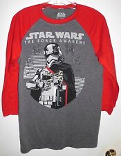 STAR WARS THE FORCE AWAKENS Baseball Jersey Style Graphic T-Shirt Sz S Men's GC