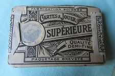 SET ANTIQUE FRENCH UNUSED & SEALED PLAYING CARDS c1903 CARTES A JOUER SUPERIEURE