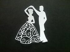 5 x First Dance Die cuts,Joanna Sheen - WHITE-Toppers/Weddings/Anniversary/Card