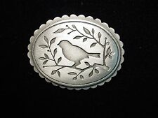 """JJ"" Jonette Jewelry Silver Pewter 'AMISH Design Bird' Brooch Pin"