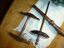 Kromski Niddy Noddy Nostepinne and Drop Spindle Set Walnut Directions Included