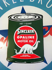 SINCLAIR DINO DIECUT OIL CAN  - PORCELAIN COATED SIGN - shipping discounts