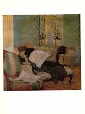 "1974 Vintage VUILLARD ""THE CHAISE LONGUE"" DISTEMPER COLOR offset Lithograph"