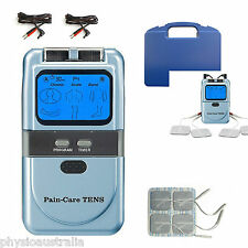 Physio PAIN-CARE Tens machine digital unit  back lit display 4 pads + 4 extras