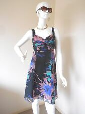 BASQUE  MULTI COLORED DRESS SIZE 10 POLYESTER COULD BE MOTHER OF THE BRIDE