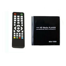 Mini 1080P TV Multi Media Player USB SD MMC HD AV Port MKV/RM-SD/USB HDD-HDMI