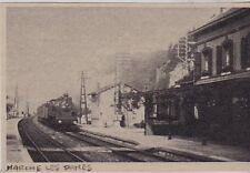 1980  --  TRAIN VAPEUR EN GARE DE MARCHE LES DAMES   BELGIQUE   3F761