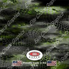 "Chameleon Hex 2 Green Wrap Vinyl Truck Camo Car SUV Real Camouflage 52""x6ft"