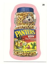 WACKY PACKAGES SERIES #9 - PANTERS PEANUTS - RED-PINK BORDER - STICKER #25
