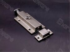 Press Unlock Spring Loaded Door Stainless Steel Bolt 95MM (EMT303)
