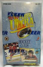 1992-93 Fleer ULTRA Premiere Edition Factory-Sealed NHL Hockey Hobby Box