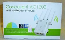 Concurrent AC1200 Wi-Fi/Repeater/Router 5GHz 867Mbps