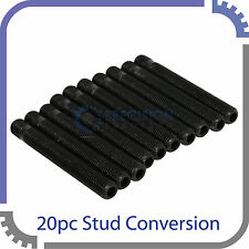 "20pc 12x1.5 Black Extended Wheel Stud Conversion | 63mm (2.5"") Shank Length"