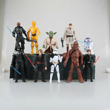 "10x Star Wars 6"" Action Figures: Darth Vader+Anakin+Luke Skywalker+Obi-Wan+Yoda"