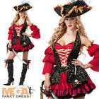 Deluxe Sexy Spanish Pirate Ladies Fancy Dress Womens Adult Costume Outfit + Hat