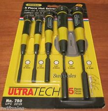 GENERAL Tools 750 - 5 Piece Precision Nut Driver Set - New Sealed