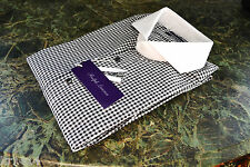 285GBP Ralph Lauren Purple Label Keaton tailored fit check shirt Size 15