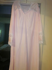 KOMAR Womans Size Large Pink lace/embroidered nightgown- NEW