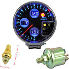"5"" DIGITAL LED RPM TACHO METER GAUGE WATER TEMPERATURE OIL PRESSURE VOLTAGE W8"