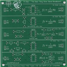 Basic Filter Types Low Pass High Pass bandpass prototyping PCB student learning
