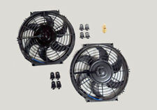 "10"" Dual Electric Radiator Fan with 185 Degree Temperature Thermostat Switch NEW"