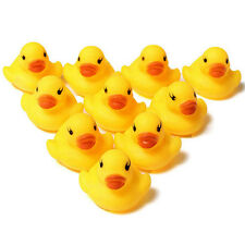Lot 10pcs Baby Kids Children Bath Toy Cute Rubber Race Squeaky Duck Ducky Yellow