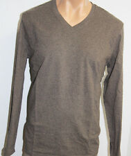 Rough Dress Premium Men Long Sleeve V-neck Shirt Tee Lycra, Size XL, NWT