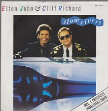 """7"""" Elton John & Cliff Richard Slow Rivers / Billy And The Kids 80`s"""