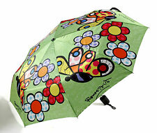✿ ROMERO BRITTO ✿ FOLDABLE UMBRELLA:  BUTTERFLY & FLOWERS   ** NEW **