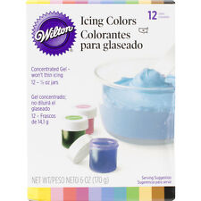 Icing Colors .5oz 12/Pkg-Assorted Colors