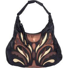 Womens Lambskin Leather Decorative Satchel Purse, Baguette Shoulder Evening Bag