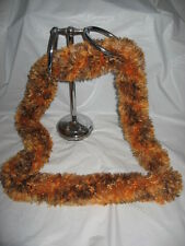 Handmade Knit Scarf - Brown and Orange Mix