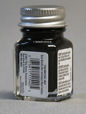 TESTORS PAINT BLACK METALLIC ENAMEL 1/4oz JAR 7.4ml plastic model car 1154 NEW