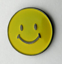 SMILEY FACE SMILE SIGN HAPPY EMOJI EMOTICON LAPEL PIN BADGE 1 INCH