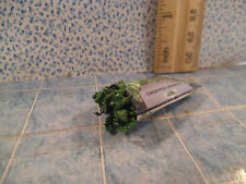 Barbie 1:6 Kitchen Food Miniature Package of Frozen Chopped Spinach Open Filled