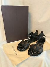 NIB Louis Vuitton Monogram NEW REVIVAL FLAT Sandals Shoes 39, 8.5, 9