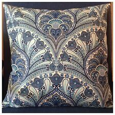 45x45cm Tommy Bahama Indoor/Outdoor Riptide Blue/Ivory Crescent Cushion Cover