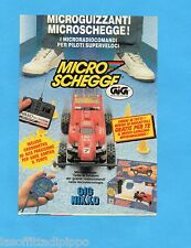 TOP990-PUBBLICITA'/ADVERTISING-1990- GIG NIKKO - MICRO SCHEGGE