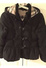 Burberry black girls childrens Trench Duffle Quilted coat Jacket size 6 Yrs