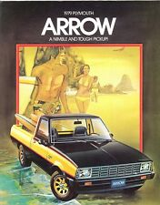 1979 Plymouth Arrow Arrow Sport Pickup Truck Sales Brochure