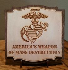 America's Weapon 2 Layer Sign Laser Engraved w/ stand & cut out to hang