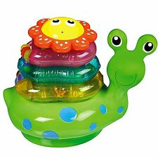 Munchkin Snail Stacker Bath Toy, Stacks and Floats , Squirts Water , NEW In Pack