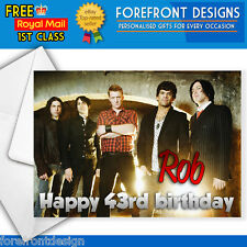 Personalised Queens of the stoneage rock Birthday Greeting Card Any occasion A5