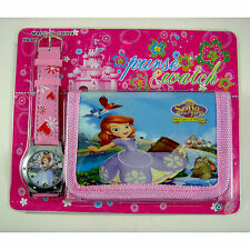 NEW Princess Sofia the First Children's Kids Boys Girls Watch Wallet Set