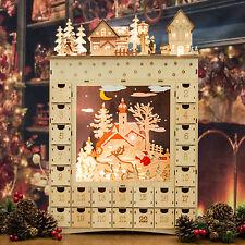 Magical Elven Made Light Up Wooden Advent Calendar (52cm)