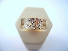 MAGNIFIQUE BAGUE JONC EN OR 18K DIAMANTS or 18 carats