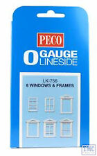 LK-756 Peco O Gauge Windows & Frames 8 In Pack