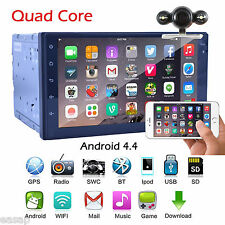 Quad Core WIFI 3G BT RDS 7'' Android 4.4 GPS Navi MirrorLink Stereo Radio+CAMERA