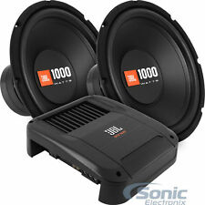 "JBL 500W RMS Amplified Bass Package: 2 CS1214 12"" Subs + GTX500 Monoblock Amp"
