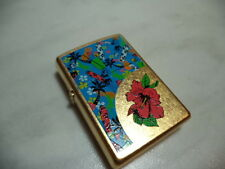 ZIPPO ACCENDINO LIGHTER GARDEN FLOWERS VERY RARE NEW + INSERTO JET FLAME NEW